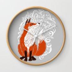 The Fox Says Wall Clock