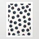 Blackberries pattern Art Print
