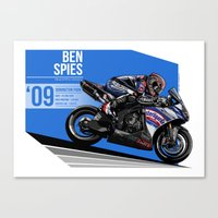 Ben Spies - 2009 Donington Park Canvas Print