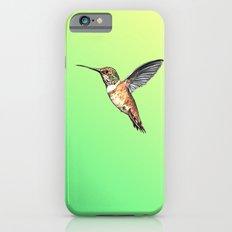 flying hummingbird watercolor sketch iPhone 6s Slim Case