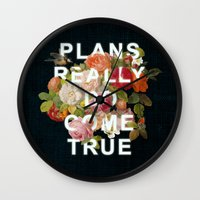Plans Really Do Come Tru… Wall Clock