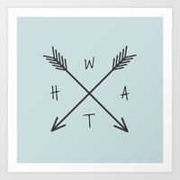 WHAT Compass? Art Print