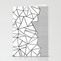 Abstraction Outline Grid… Stationery Cards