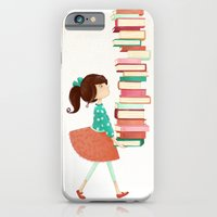 iPhone & iPod Case featuring Library Girl by Stephanie Fizer Coleman