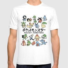 Pokemon Mens Fitted Tee White SMALL
