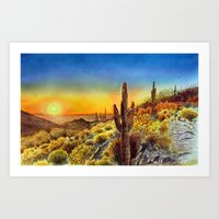 Arizona's Sunset Art Print