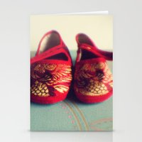 Two red shoes Stationery Cards