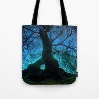 Tree under a spangled sky (light) Tote Bag