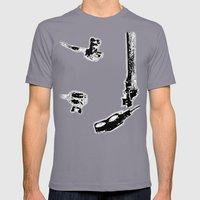 Get Wet Mens Fitted Tee Slate SMALL
