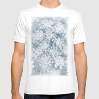 Cow Parsley Mens Fitted Tee White SMALL