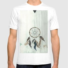 Dream Catcher Reservations Mens Fitted Tee White SMALL
