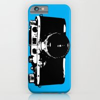 iPhone & iPod Case featuring Leica in Blue by Negative Space