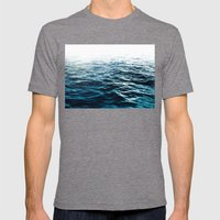 Blue Sea Mens Fitted Tee Tri-Grey SMALL