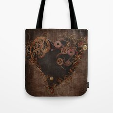 Steampunk Heart Tote Bag