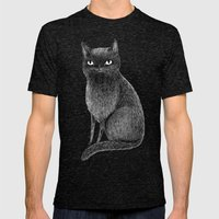 Black Cat Mens Fitted Tee Tri-Black SMALL