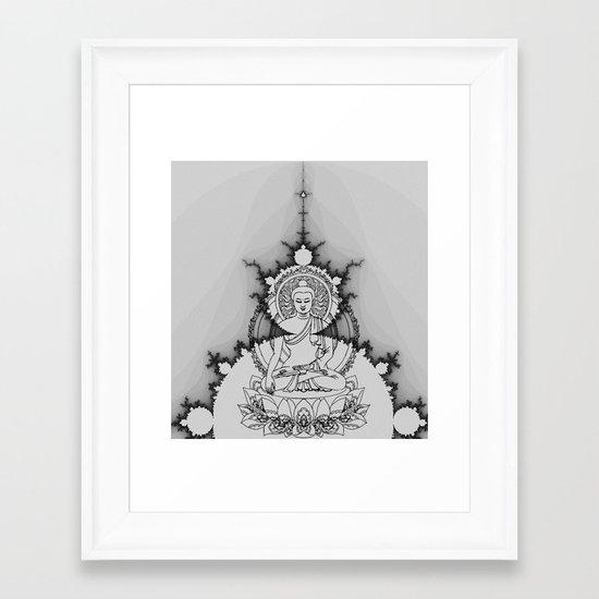 buddha fractal Framed Art Print