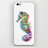 CMYK Seahorse iPhone & iPod Skin