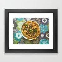 Asian Noodles Framed Art Print