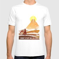 Journey On And On Mens Fitted Tee White SMALL