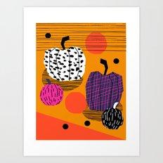 Yar - Pumpkin Halloween … Art Print