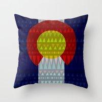 Colorado Flag/Geometric Throw Pillow