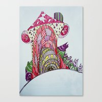 funny house Canvas Print