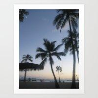 Blue Hawaiian Sunset Art Print