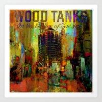 Wood Tanks Art Print