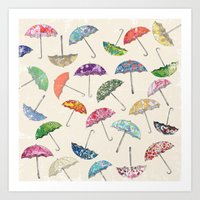 Umbrella & umbrellas Art Print