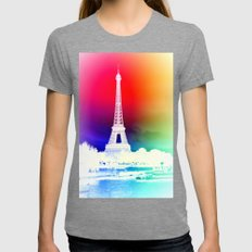 paris. Womens Fitted Tee Tri-Grey SMALL