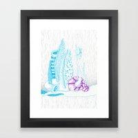The rain from beyond Framed Art Print