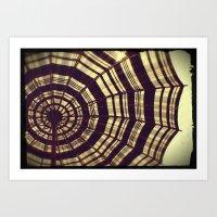 Antique Umbrella Art Print