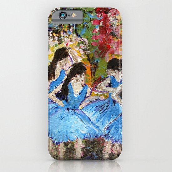 Blue Dancers iPhone & iPod Case