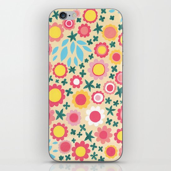 Crowded Colourful Flowers iPhone & iPod Skin