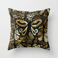 Swarm of the Butterflies Throw Pillow