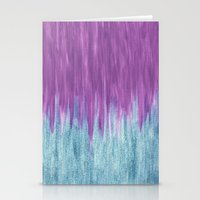 Aqua Sparkle Berry Abstract Stationery Cards