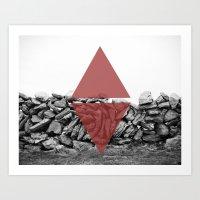 red walls Art Print