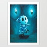 Mummy Shyguy Art Print
