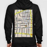Tel Aviv map design - Florentin area - written in Hebrew Hoody