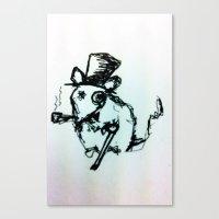 Scribble Mouse Canvas Print