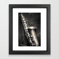 Music in my heart Framed Art Print