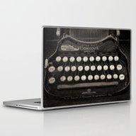 Laptop & iPad Skin featuring Old Typewriter Keyboard by David Turner