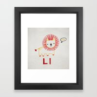 L Lion Framed Art Print