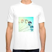 Blue Carousel Mens Fitted Tee White SMALL