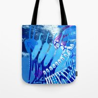 Wave Blue Tote Bag