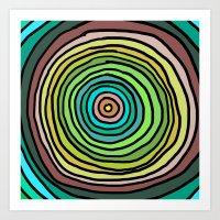 Circle Stripes Art Print