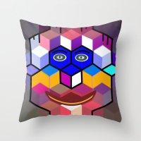 cube face Throw Pillow