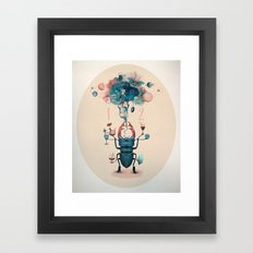 funny beetle Framed Art Print