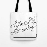 hello darling Tote Bag