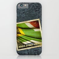 iPhone & iPod Case featuring South Africa grunge sticker flag by Lulla